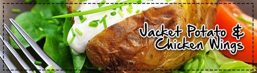 Jacket Potato & Chicken Wings