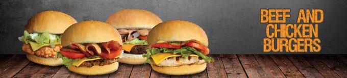Beef & Chicken Burgers