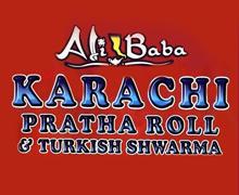 Ali Baba Karachi Paratha Roll, Model Town Lahore Logo