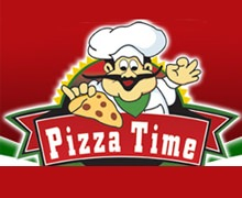 Pizza Time. Karachi Logo